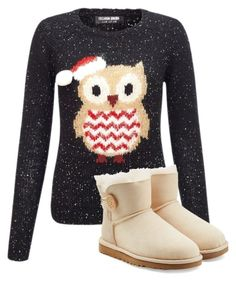 """""""Hoot for the holidays!!!!"""" by streamlily ❤ liked on Polyvore featuring Lipsy and UGG Australia"""