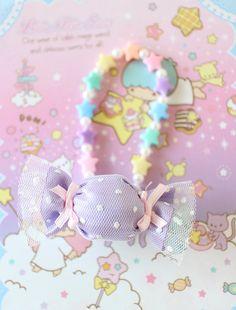 Fairy kei Kawaii Girly Harajyuku Purple Candy by MasumiBoutique Kawaii Fashion, Cute Fashion, Diy Fashion, Sweet Wrappers, Felt Crafts, Diy Crafts, Purple Candy, Kawaii Diy, Rainbow Aesthetic