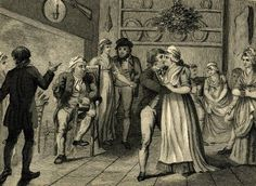 Kissing under the mistletoe, 1800. Now that IS scandalous