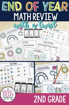 Keep your students engaged with these end of the year activities! Review the 2nd grade math standards in a FUN and engaging way!