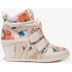 FOREVER 21 Floral Wedge Sneakers ($38) no longer on site -hope i see them in the store!!!