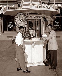 Disneyland Main Street Information Booth 1956 by Miehana, via Flickr