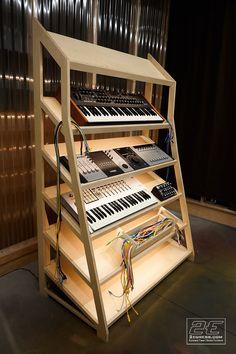 Recording Studio Furniture, Recording Studio Design, Studio Layout, Studio Desk, Guitar Storage, Editing Suite, Music Keyboard, Studio Equipment, Work Station Desk