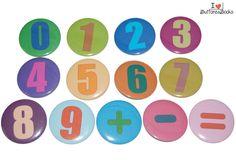 Zahlen-Magnete-50mm+Set-Magnettafel-bunt+von+Buttons&Books+auf+DaWanda.com