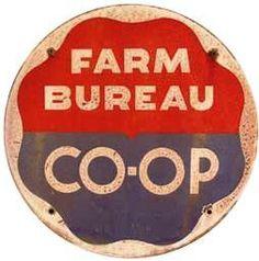 Round sign for Farm Bureau Co-Op