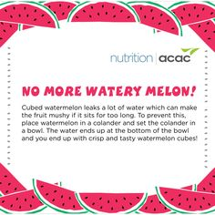 No more watery melon!