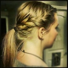 good idea to fix my hair like this for school. (: