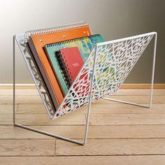 Network Magazine Rack White  by Design Ideas