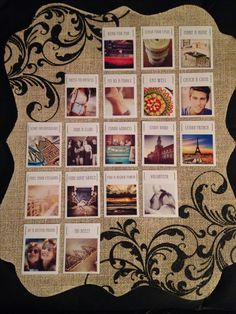 Vision board. I like how organized this is, while still being visually appealing.