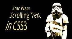 Star Wars scrolling text recreated in CSS3