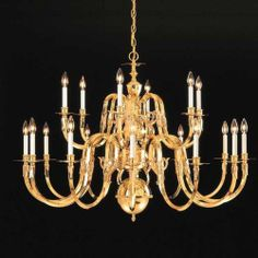 Williamsburg Eighteen Light Chandelier in Polished Brass Brass Chandelier, Chandelier, Crystorama, Light Up, Chandelier Lighting, Light, Polished Brass, Lights, Light Fixtures