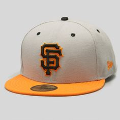 Upper Playground - SF Giants New Era Fitted Cap in Gray/Orange