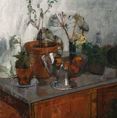 William Bowyer    Still Life with Plants and Fruit    20th century