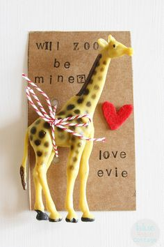 Will Zoo Be Mine? (not necessarily the words or object-but card with attachment it clever)