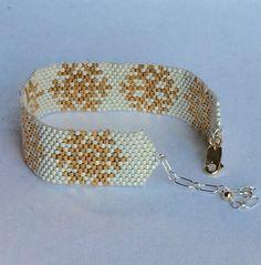 Fait à la main Peyote cousus perles Bracelet manchette en