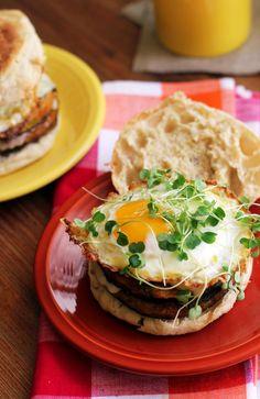 Double Decker Chili Rellenos Breakfast Burgers