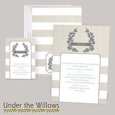 stripes, simple, modern themed | yours truly wedding invitation
