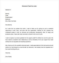 Download Retirement Thank You Letter Template Word Format Templates Free