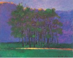 wolf kahn trees | dark clump of trees oil on canvas wolf kahn