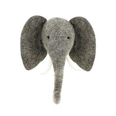 Felt animal head wall mounted elephant