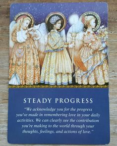 The angels want you to know that,  even though you may not see it,  you are making steady progress.  Rather than focusing on how far you still have to go,  look to see how far you've come already.  The changes you have made are bringing results,  so keep doing what you're doing.   You're on the right path,  so keep going! #angels #guidance #oracle #tarot