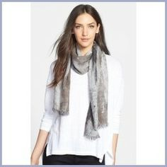 Tips on Buying Eileen Fisher Woven Scarf Womens Taupe One Size One Size