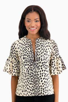 Leopard Mod Ruffle Top