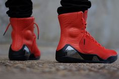 Nike Kobe 9 EXT KRM Challenge Red   On Feet Images