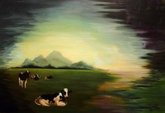 """Saatchi Online Artist: Claire Lee; Acrylic, 2012, Painting """"What are you looking at?"""" #art"""