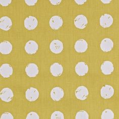 This retro pattern with painted irregular dots in yellow fabric is cotton, medium decorator weight, designed and made in the UK. The fabric is home decor weight and is perfect for curtains, table cloths and cushion covers. Cotton Curtains, Curtain Fabric, Cotton Fabric, Woven Cotton, Yellow Home Decor, Prestigious Textiles, Yellow Fabric, Retro Pattern, Fabric Wallpaper