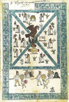 Frontispiece of the Codex Mendoza. Viceroyalty of New Spain. c. 1541–1542 C.E. Pigment on paper.