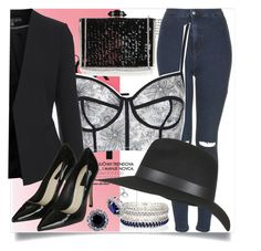 """""""Friday Night Party"""" by lovecostarica ❤ liked on Polyvore featuring Topshop, Judith Leiber, River Island and BERRICLE"""
