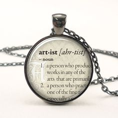 Personalized Dictionary Word Necklace, Custom Text Pendant Jewelry