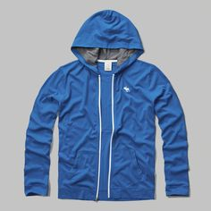 supersoft and comfortable with contrast lined hood, full zipper closure, front pockets and logo at left chest, imported