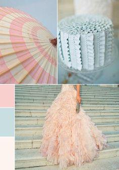 Pretty Pastels Wedding Palette – Powder Pink and Duck Egg Blue