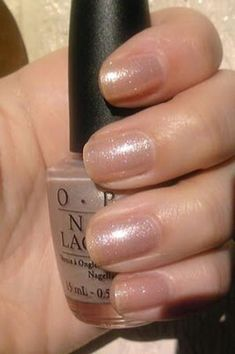 Nail Color OPI Hollywood Blonde-love the color, hate the name. OPI Hollywood Blonde-love the color, hate the name. New Nail Colors, Manicure Colors, Nail Polish Colors, Manicure And Pedicure, Polish Nails, Mani Pedi, French Nails, Glitter French Manicure, Sparkle Nails