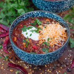 This #vegan chili puts any chili (vegan or otherwise) to shame. Made with a homemade coffee-chile sauce and quinoa, it's hearty, healthy, and delicious.   Oh, and in my upcoming coffee cookbook! Get your copy here