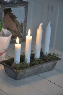 Como os conté se enciende una vela por cada domingo anterior al día de Navidad.   Cuatro velas...         Primer domingo, primera vela!    ...