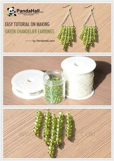 Jewelry Making Tutorial-How to Make Green Chandelier Earrings | PandaHall Beads Jewelry Blog