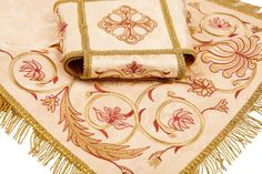 Embroidered Chalice Covers & Veil   Learn more: https://catalog.obitel-minsk.com/veil-covers-sh-10-50-3.html   #CatalogOfGoodDeeds #OrthodoxVestments