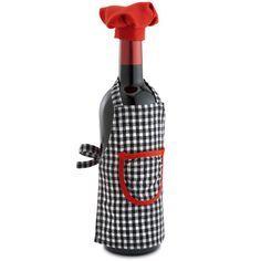 Image result for wine bottle chef hat pattern