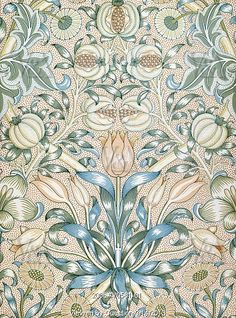 Lily and Pomegranate wallpaper, by William Morris. England, late 19th century