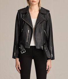 d5f88a8387fb Womens Balfern Leather Biker Jacket (Black) - product image alt text 1 All  Saints Leather Jacket