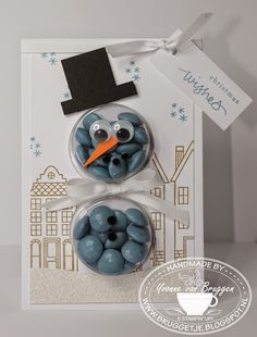 Yvonne's Stampin' and Scrap Blog: Sweet Treat Cups card snowman