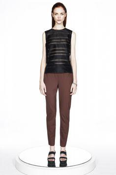 ERIN BARR : Jac Silk Striped Organza Top