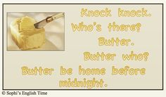 Knock Knock with Butter