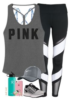 """""""I WORK OUT. ️♀️"""" by amberfmillard-1 ❤ liked on Polyvore featuring Zella, Victoria's Secret, Hydro Flask, NIKE, Kate Spade and Lilly Pulitzer"""
