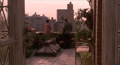Green card, film I love for the spectacular greenhouse attached to a rooftop apartment in New York City. A lovely Andie MacDowell too