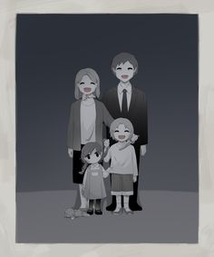 """some reason, this reminds me of that quote from Anna Karenina- """"happy families are all alike. Each unhappy family is unhappy in it's own way. Dark Art Illustrations, Illustration Art, Sad Anime, Anime Art, Art Triste, Character Art, Character Design, Sun Projects, Art Mignon"""