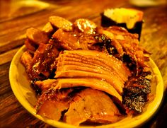 Sliced meat from The Salt Lick